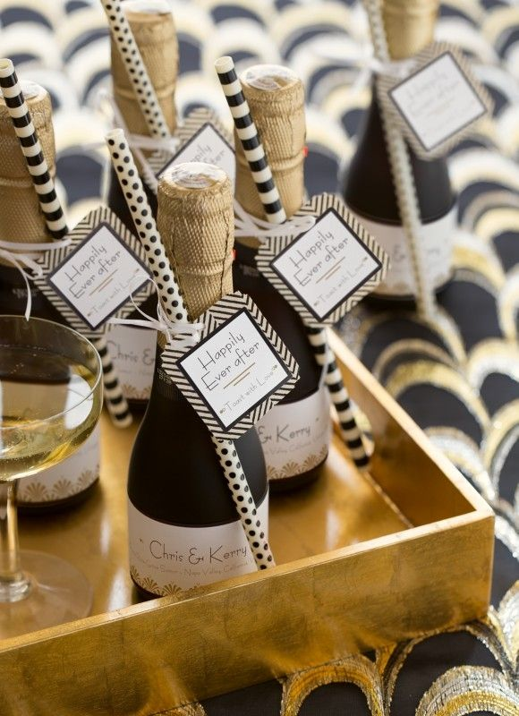 Champagne Wedding Favor