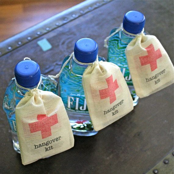 Hangover Kit Wedding Favor