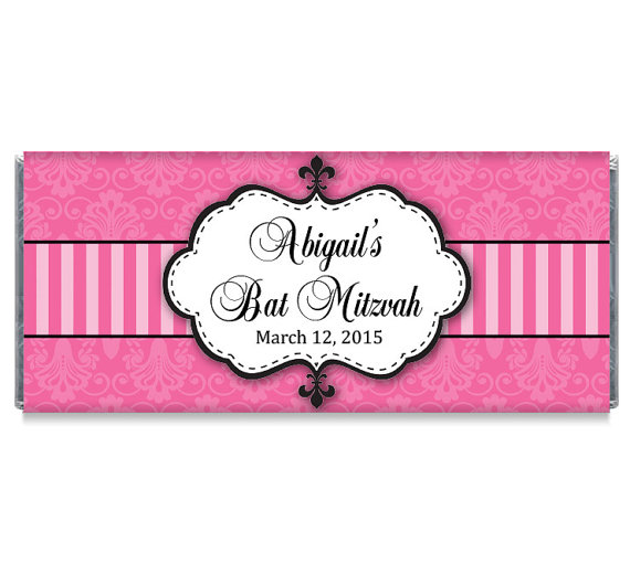 Personalized Bat Mitzvah Party Favor