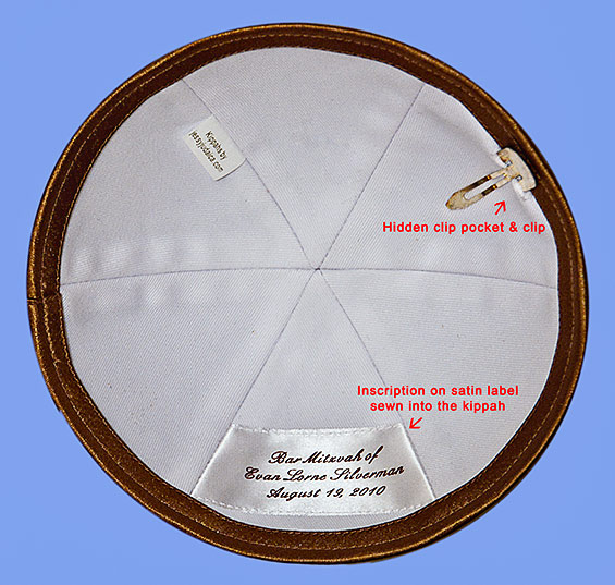 Custom Kippah Inscription